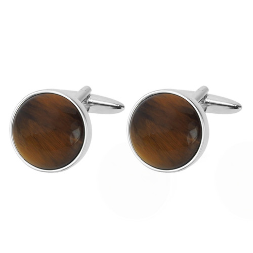 Manchetknapper Cat's Eye - Brun  (1)